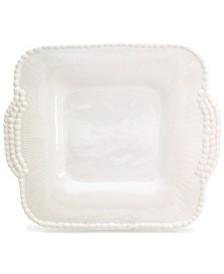 Euro Ceramica Sarar White Square Platter with Handles