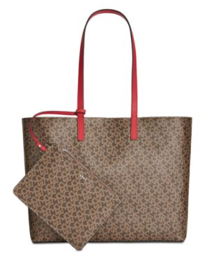 Image of Dkny Brayden Signature Reversible Tote, Created for Macy's