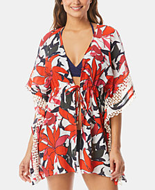Vince Camuto Tie-Front Caftan Cover-Up