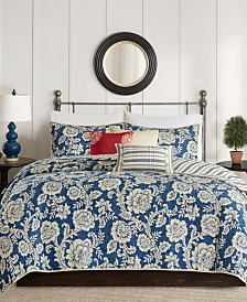 Madison Park Lucy 6-Pc. King/California King Cotton Twill Reversible Coverlet Set
