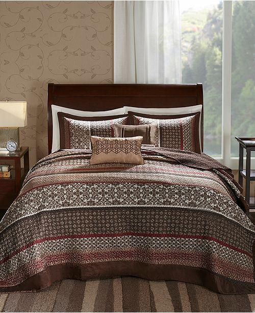 Madison Park Princeton 5-Pc. Queen Bedspread Set