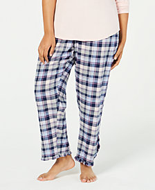 Jenni by Jennifer Moore Plus Size Cotton Pajama Pants, Created for Macy's