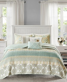 Madison Park Willa 6-Pc. Cotton Sateen Coverlet Sets