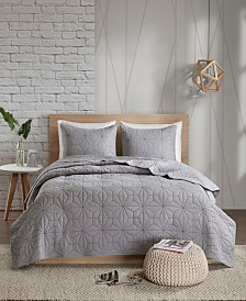 Urban Habitat Caden 3-Pc. Full/Queen Cotton Coverlet Set