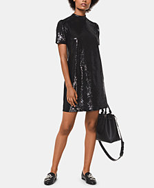 MICHAEL Michael Kors Sequin T-Shirt Dress