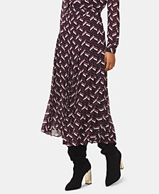 MICHAEL Michael Kors Chevron-Print Pleated Skirt