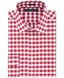 Tommy Hilfiger Men's Slim-Fit Gingham Dress Shirt