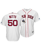 Majestic Men s Mookie Betts Boston Red Sox 2018 World Series Champ Patch  Player Cool Base Jersey 600099525