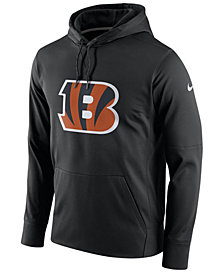 Nike Men's Cincinnati Bengals Performance Circuit Logo Essential Hoodie