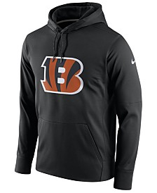 Nike Men's Cincinnati Bengals Performance Circuit Logo Essential Hoodie