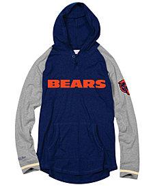 Mitchell & Ness Men's Chicago Bears Slugfest Lightweight Hooded Long Sleeve T-Shirt