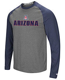 Colosseum Men's Arizona Wildcats Social Skills Long Sleeve Raglan Top