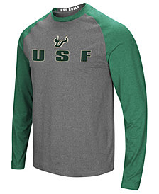 Colosseum Men's South Florida Bulls Social Skills Long Sleeve Raglan Top