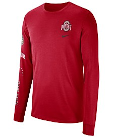 Nike Men's Ohio State Buckeyes Long Sleeve Basketball T-Shirt