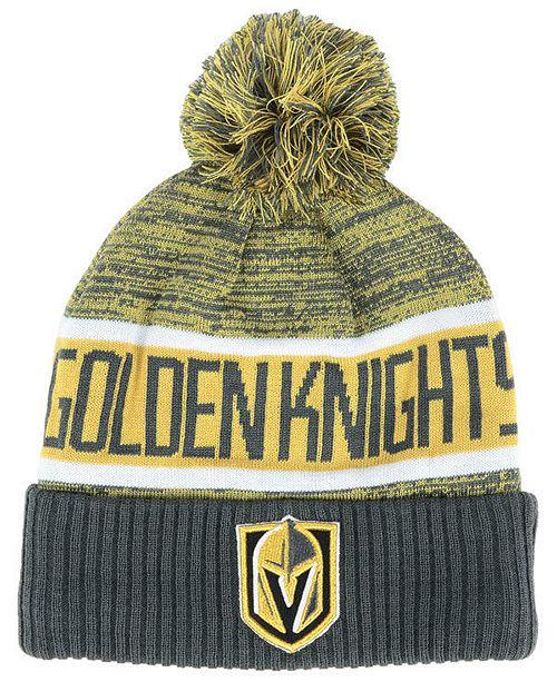 Authentic NHL Headwear Vegas Golden Knights Goalie Knit Hat - Sports ... 89ac64f470f7