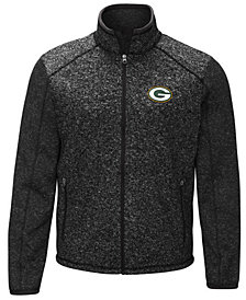 G-III Sports Men's Green Bay Packers Alpine Zone Sweater Fleece Jacket