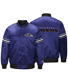 G-III Sports Men's Baltimore Ravens Draft Pick Starter Satin Jacket