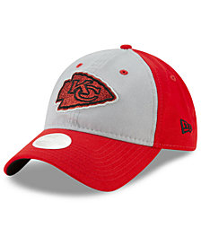 New Era Women's Kansas City Chiefs Gray Glitter 9TWENTY Cap