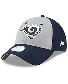 New Era Women's Los Angeles Rams Gray Glitter 9TWENTY Cap