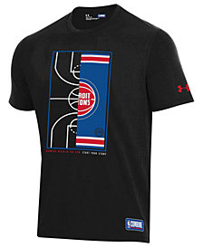 Under Armour Men's Detroit Pistons Banners Begin in the Gym T-Shirt