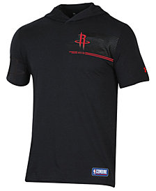 Under Armour Men's Houston Rockets Baseline Short Sleeve Hooded T-Shirt