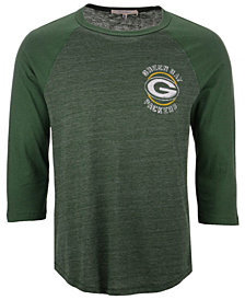 Authentic NFL Apparel Men's Green Bay Packers End Around Three-Quarter Raglan T-Shirt