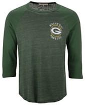a0e6fc87bb Authentic NFL Apparel Men s Green Bay Packers End Around Three-Quarter  Raglan T-Shirt
