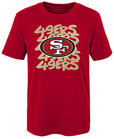 Outerstuff San Francisco 49ers Graph Repeat T-Shirt, Little Boys (4-7)