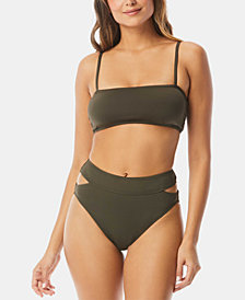 Vince Camuto Square Neck Bikini Top & Convertible Hi-Waist Bottom