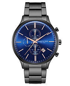 Kenneth Cole New York Men's Multifunction Black Bracelet Watch 45mm