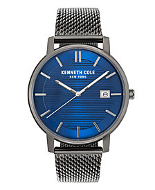 Kenneth Cole New York Men's Gun Metal Mesh Bracelet Watch 42mm