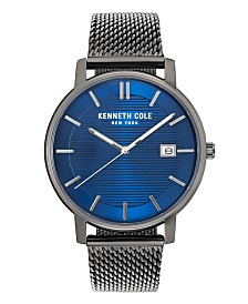 Kenneth Cole New York Men's Gun Metal Mesh Bracelet Watch 42mm