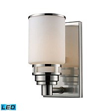Bryant 1-Light Vanity in Satin Nickel - LED Offering Up To 800 Lumens (60 Watt Equivalent) with Full Scale Dimming Range