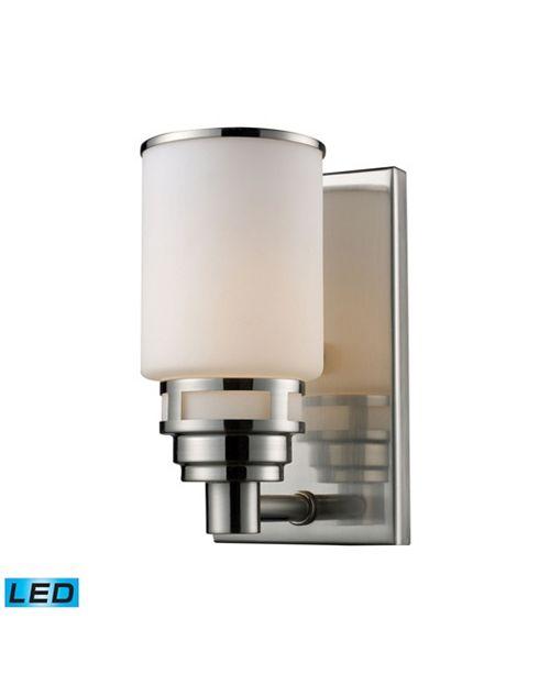 ELK Lighting Bryant 1-Light Vanity in Satin Nickel - LED Offering Up To 800 Lumens (60 Watt Equivalent) with Full Scale Dimming Range