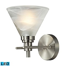 Pemberton 1 Light Bath in Brushed Nickel - LED Offering Up To 800 Lumens (60 Watt Equivalent) with F