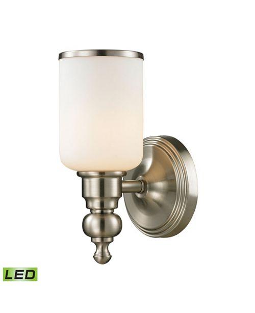 ELK Lighting Bristol Collection 1 light bath in Brushed Nickel - LED Offering Up To 800 Lumens (60 Watt Equivalent)