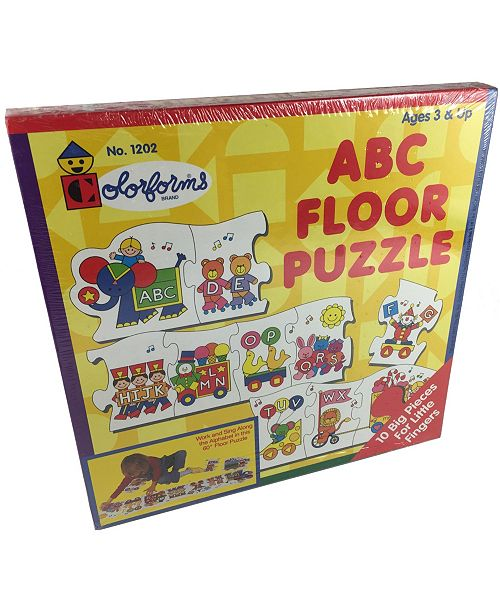 Areyougame Colorforms ABC Floor Puzzle, 10 pieces