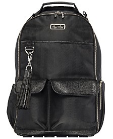 Itzy Ritzy Boss Backpack Diaperbag- Black Herringbome