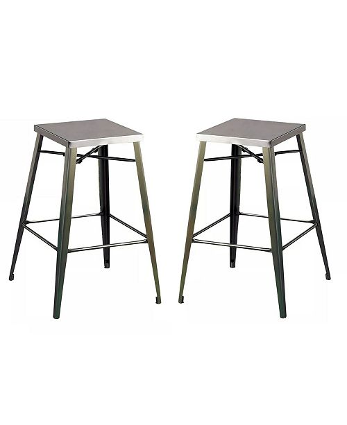 """Furniture Roth Metal 26"""" Bar Stool (Set of 2)"""