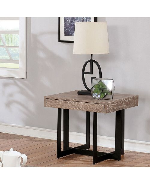 Furniture of America Tanmer Intersecting Base End Table