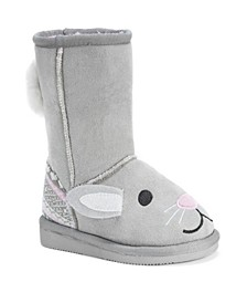 Muk Luk Kid's Bonnie Pink Bunny Boots