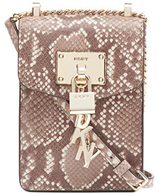 DKNY Elissa Chain Strap Snake Crossbody, Created for Macy's