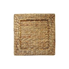 Jay Import Water Hyacinth Square Set/4 Charger Plate