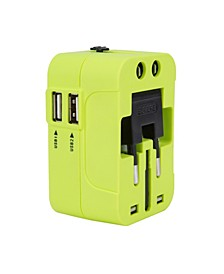 Worldwide Adaptor W/ Dual USB Charger