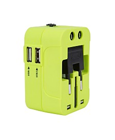 Travelon Worldwide Adaptor W/ Dual USB Charger