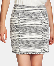 1.STATE Striped Fringe Mini Skirt