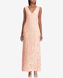 Lauren Ralph Lauren Floral-Neoprene Gown