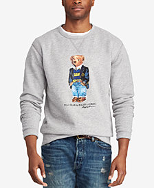 Polo Ralph Lauren Men's Preppy Bear Fleece Sweatshirt, Created for Macy's