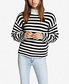 Sanctuary Idris Striped Mock-Neck Sweater