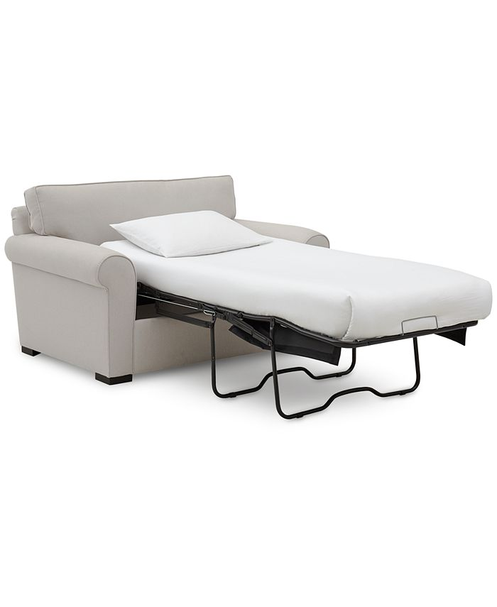 """Furniture - Astra 59"""" Fabric Chair Bed"""